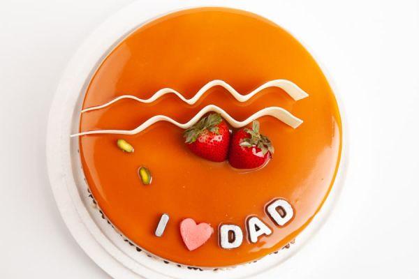 我愛DAD 父親節蛋糕,可愛老爸,法蘭司,法蘭司烘焙,台北,父親節,生日蛋糕,水果布丁蛋糕,臉譜蛋糕