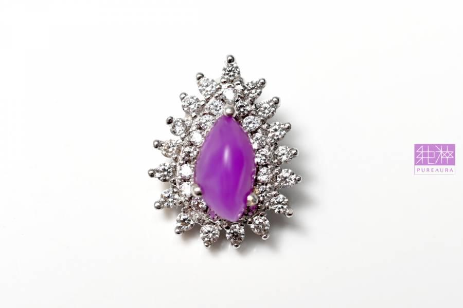 頂級果凍粉紫舒俱徠石墜 舒俱徠石,sugilite,蘇紀石