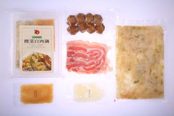 酸菜白肉套組-酸白鍋底+增量川丸子+豬五花 / 4人份