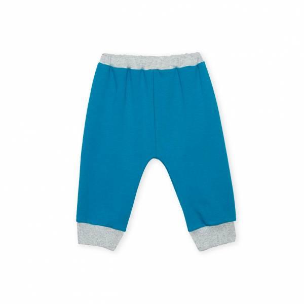 素色嬰童休閒長褲 藍綠