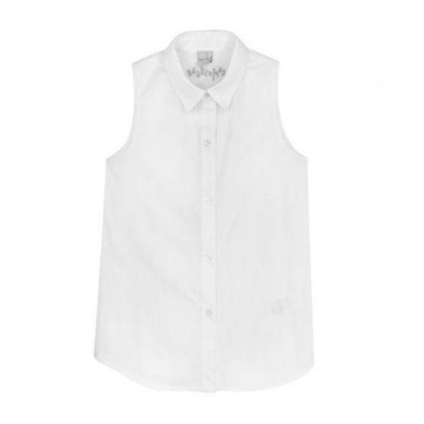 城市冒險家兩件組合式無袖襯衫 白色