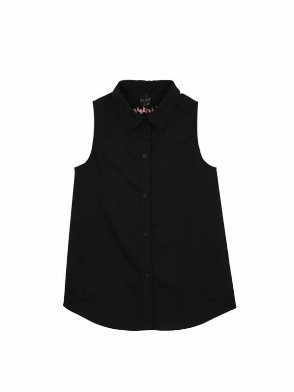 城市冒險家兩件組合式無袖襯衫 黑色