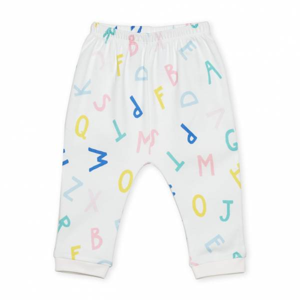 大家來學ABC  有機棉長褲褲 童裝