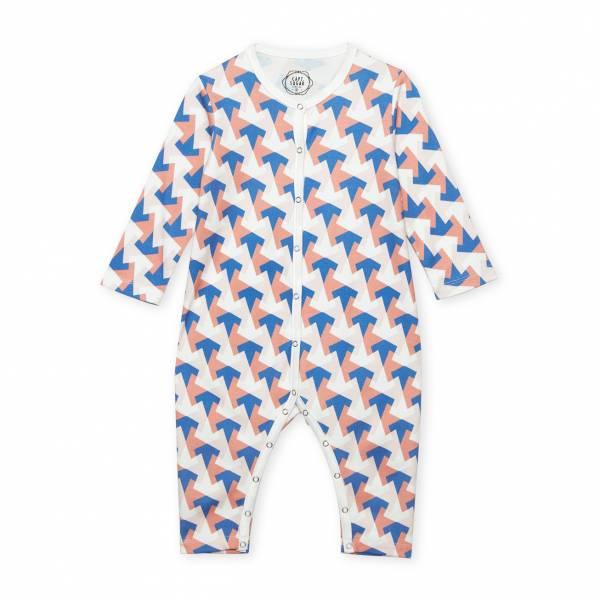 多角幾何圖形 有機棉有機棉連身衣
