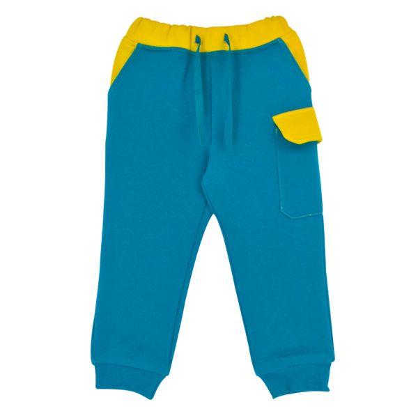 熱鬧冬季內刷毛長褲 活力派對藍