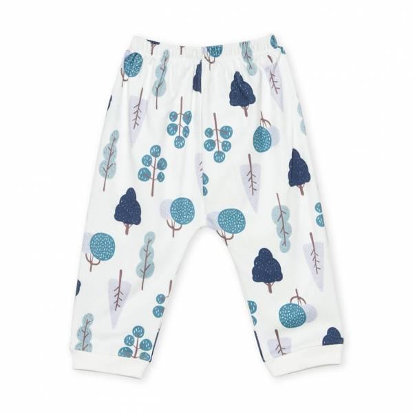 手繪森林圖案  有機棉長褲褲 童裝