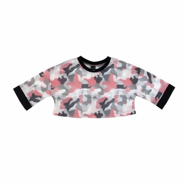 街頭冒險家兩件組合式短板上衣 迷彩粉色