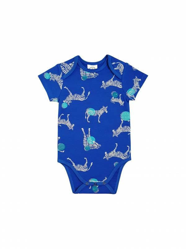 經典英倫斑馬毛圈包臀衣 藍(嬰)