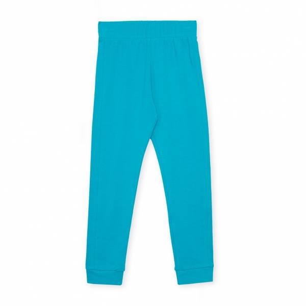 素色內搭褲 藍綠