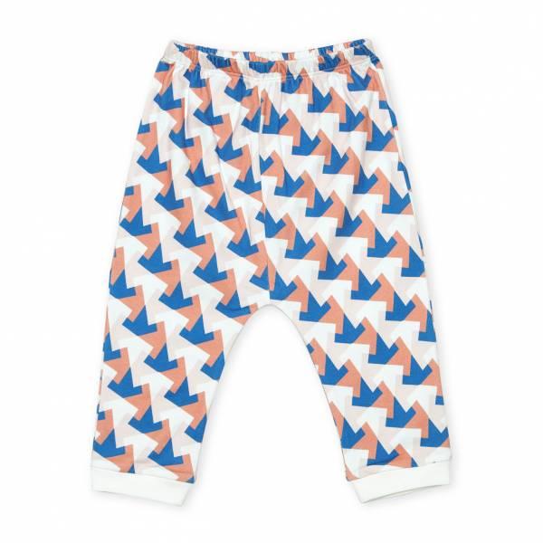 多角幾何圖形  有機棉長褲褲