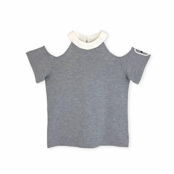 彩色魔法T恤 花紗灰色