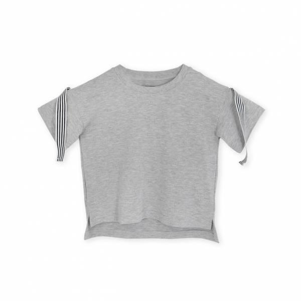 Lil RibbonT恤 花紗灰色