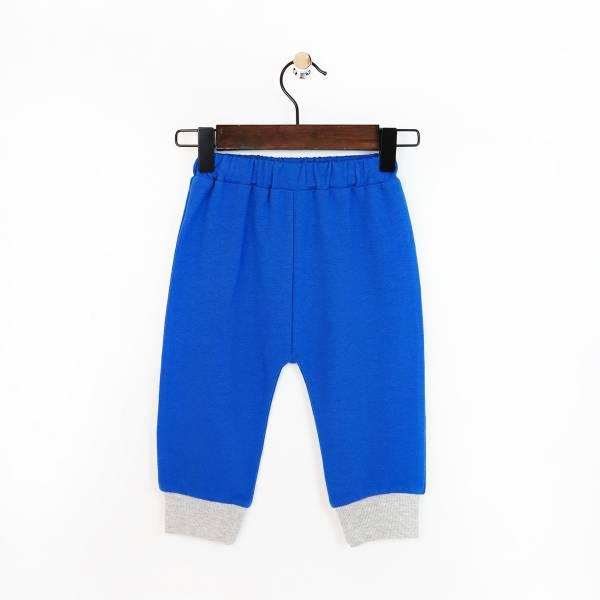 斑馬毛圈棉質長褲 寶石藍(嬰)