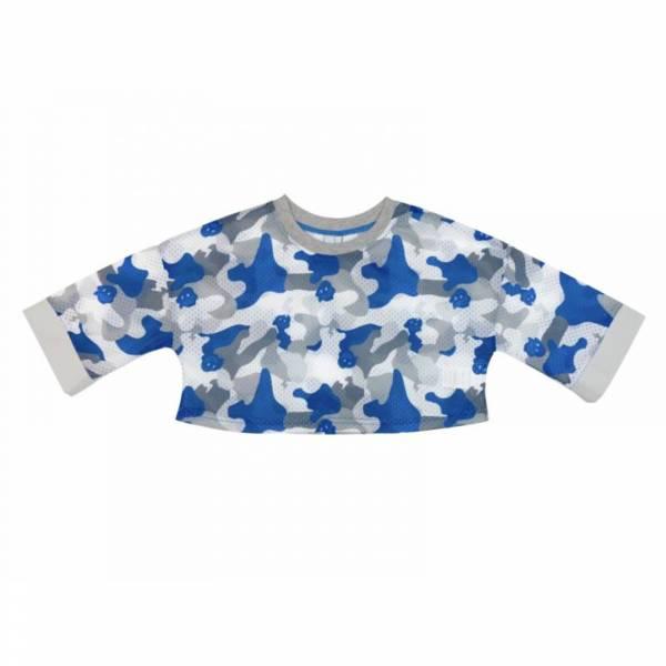 街頭冒險家兩件組合式短板上衣 迷彩藍色