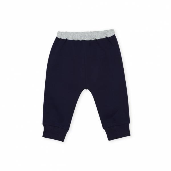 素色嬰童休閒長褲 藍