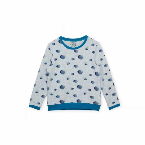 秋之雨休閒T恤 藍灰