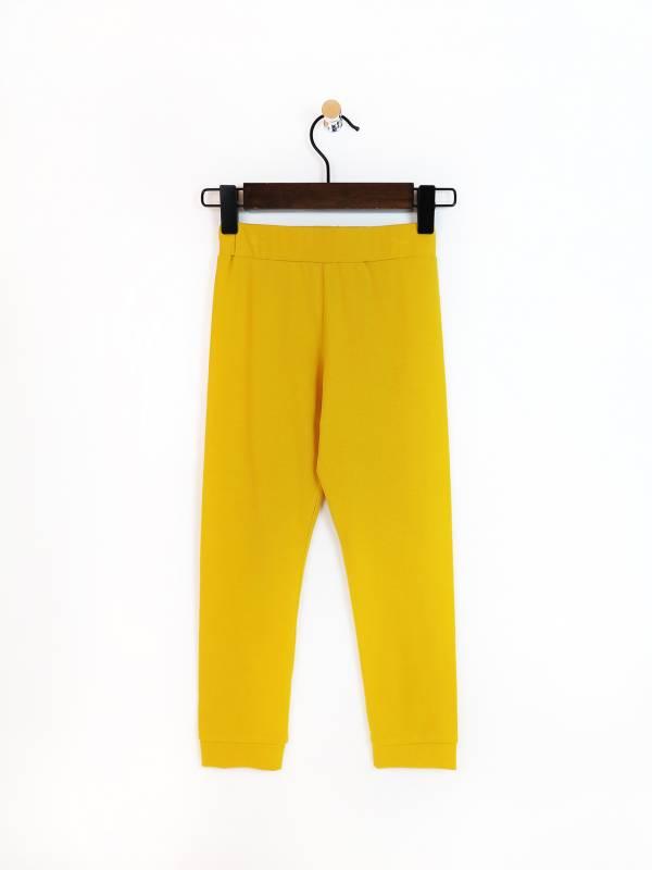 野菊黃內搭彈性棉褲