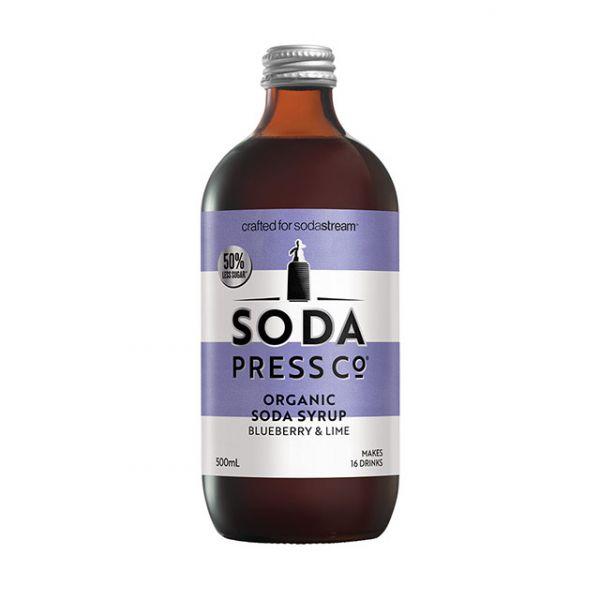 Sodastream Sodapress有機糖漿|有機萊姆藍莓500ML |Sandy吳姍儒推薦|以色列原裝原廠公司貨 英國sodastream,氣泡水機,糖漿,恆隆行,拚客購