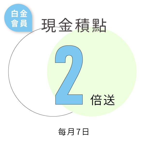 白金會員7日積點2倍:優惠代碼SNBHBK