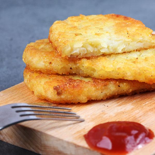 早餐經典四角薯餅