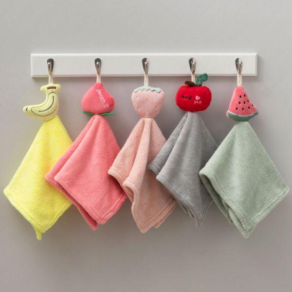 防疫好物 水果珊瑚絨擦手巾-共五款