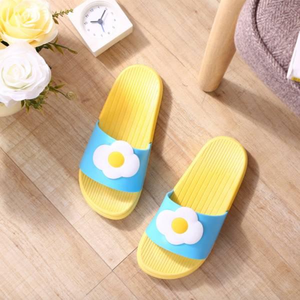 水果圖案 親子浴室防滑拖鞋-黃色 水果拖鞋,親子拖鞋,兒童浴室防滑拖鞋