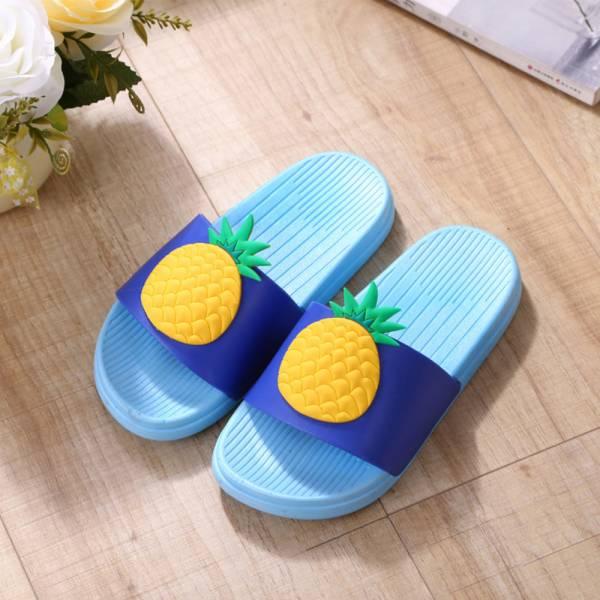 水果圖案 親子浴室防滑拖鞋-淺藍 水果拖鞋,親子拖鞋,兒童浴室防滑拖鞋
