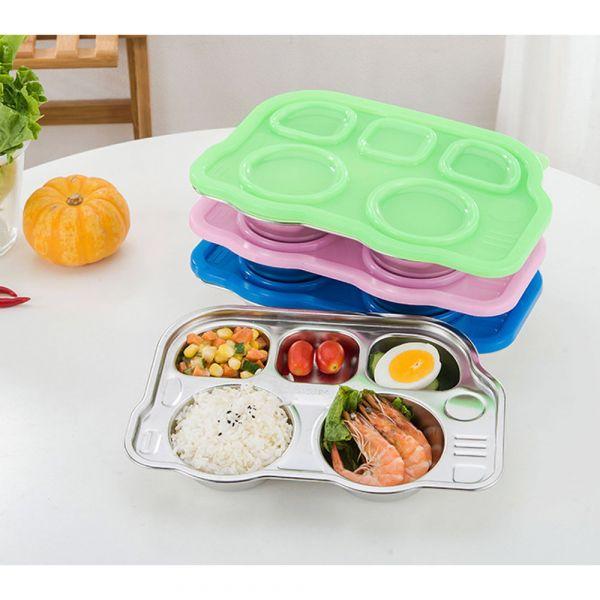 304不鏽鋼汽車餐盤附蓋子-共三色 304不鏽鋼餐盤,汽車餐盤