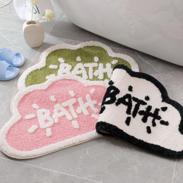 居家用品 雲朵浴室植絨吸水地墊 防滑墊-共三色 居家用品,浴室植絨吸水地墊,防滑墊,浴室吸水地墊,浴室防滑墊