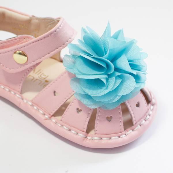 現貨 台灣製夏日花朵寳寳涼鞋-粉色 現貨,台灣製,寳寳涼鞋,學步涼鞋