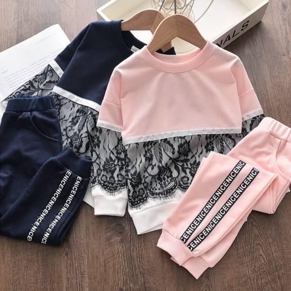 薄款 蕾絲運動休閒套裝-共兩色