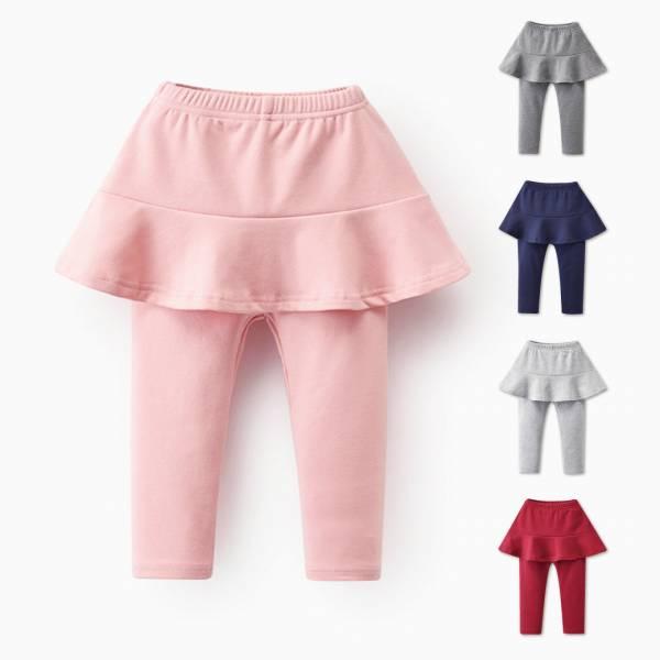 現貨 假兩件波浪裙 女童內搭褲-共兩色 假兩件波浪裙,女童內搭褲