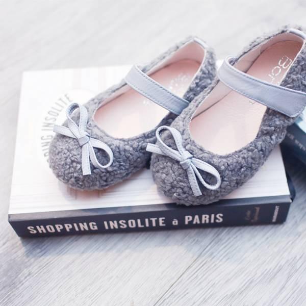 現貨 暖呼呼毛毛寶寶鞋 女童娃娃鞋-星空灰 寳寳鞋, 台灣製小童鞋, 女童娃娃鞋,學步鞋,毛茸茸寶寶鞋,冬季熱銷童鞋,可愛鞋款