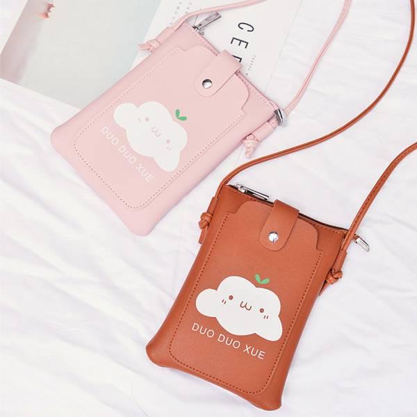 現貨 親子包 白雲童趣斜背包 手機包-共三色 親子包,童趣斜背包,手機包