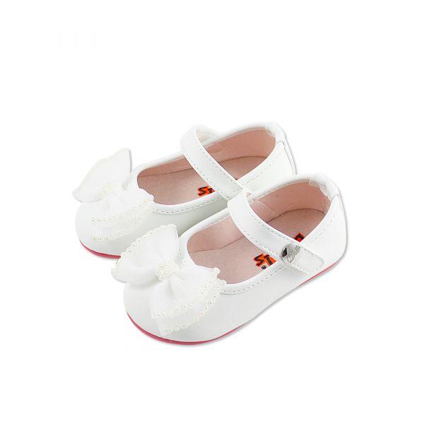現貨 台灣製小花童蝴蝶結娃娃鞋寶寶鞋 音樂表演 萬聖節-白色 台灣製,小花童,蝴蝶結娃娃鞋,寶寶鞋,音樂表演,萬聖節