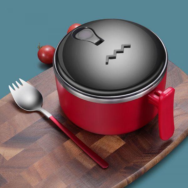 304不鏽鋼隔熱防燙泡麵碗-共三色