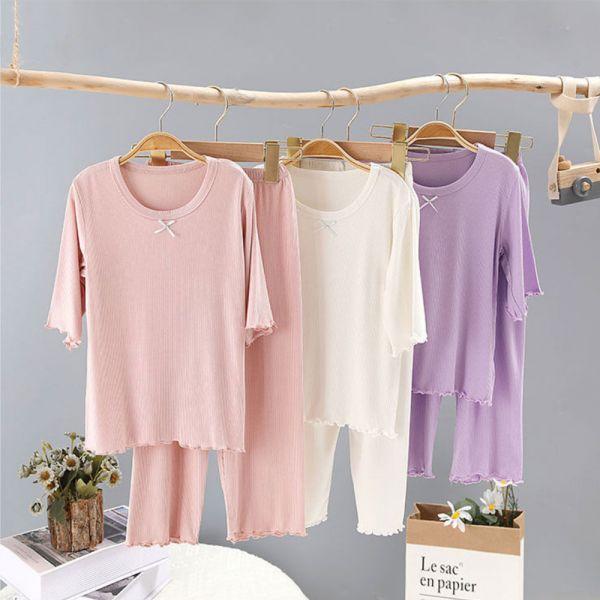 莫代爾兒童睡衣 五分袖居家服空調服-共三色