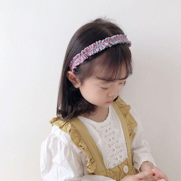兒童專用 復古皺褶髮箍-共五色