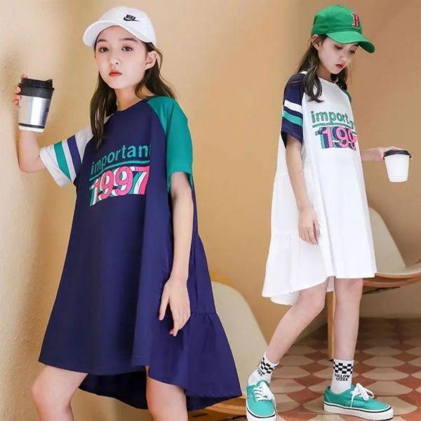 /大童/運動風 寬鬆連衣裙-共兩色