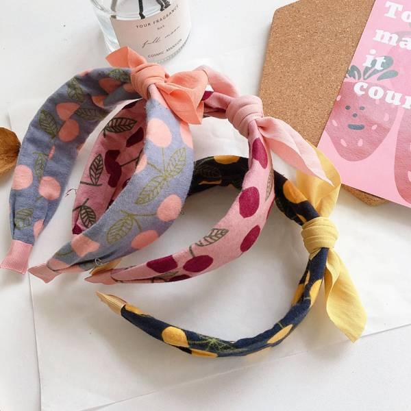 兒童專用 蝴蝶結櫻桃髮箍-共三色 兒童專用髮箍,蝴蝶結櫻桃髮箍,女童髮箍,親子髮箍,蝴蝶結髮箍