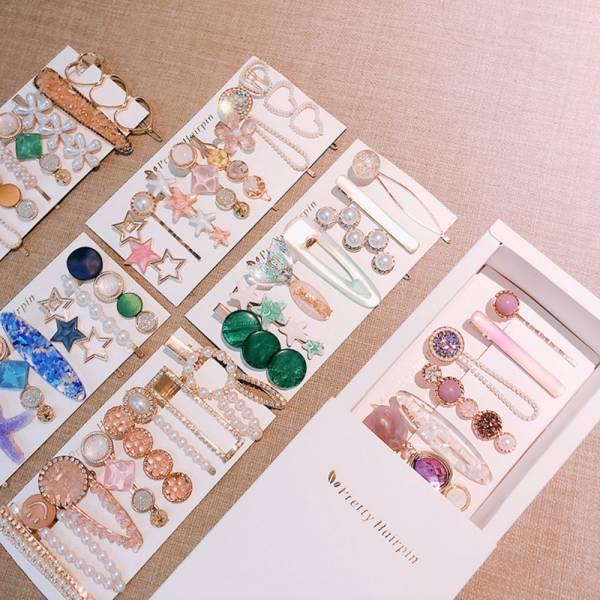 /大人/韓版珍珠水鑽髮夾組-共六色韓版珍珠水鑽髮夾組-共六色韓版珍珠水鑽髮夾組-共六色韓版珍珠水鑽髮夾組-共六色
