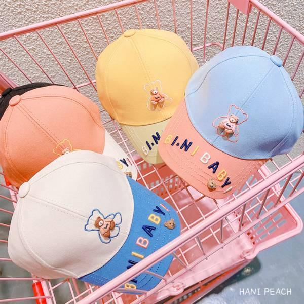 兒童專用 立體小熊遮陽帽 棒球帽-共五色