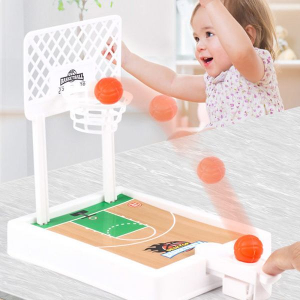 現貨 打發小孩時間 桌面彈射籃球機-白色