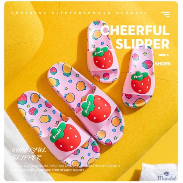 /親子/新款 水果親子防滑拖鞋-粉色