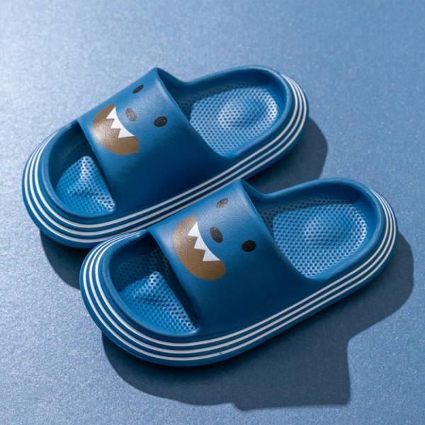 /中大童/小怪獸防水防滑拖鞋-藍色