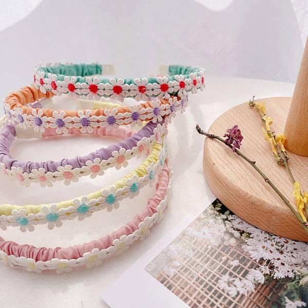 兒童專用 清新小花髮箍-共五色