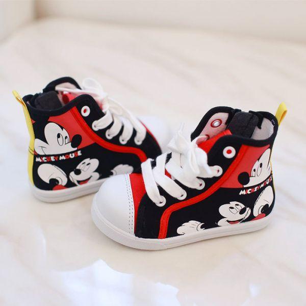 現貨 台灣製迪士尼低筒帆布休閒鞋-黑色米奇 帆布休閒鞋,迪士尼,台灣製造