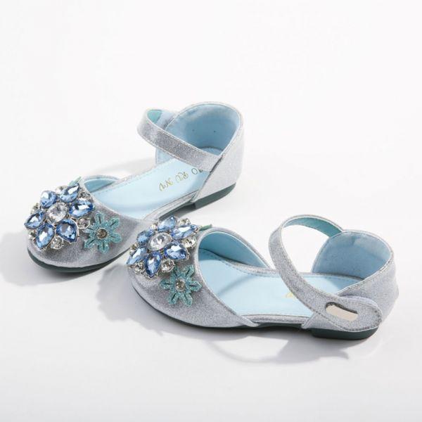 /大童/璀璨寶石 艾莎包趾涼鞋-藍色