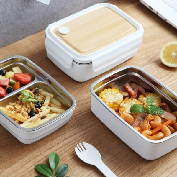 環保餐盒 木紋304不鏽鋼便當盒-共兩款