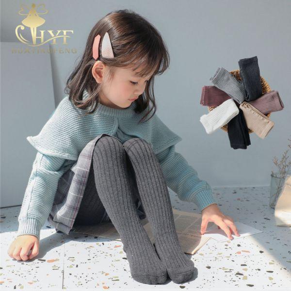 秋冬棉針織坑條女童褲襪-共六色